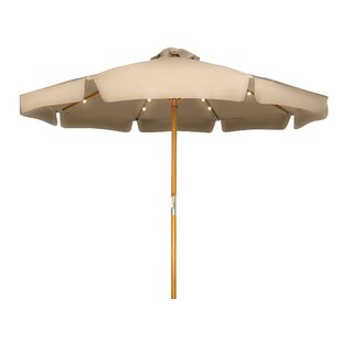 Winston Porter Junkins Wood Frame Patio 9' Market Umbrella