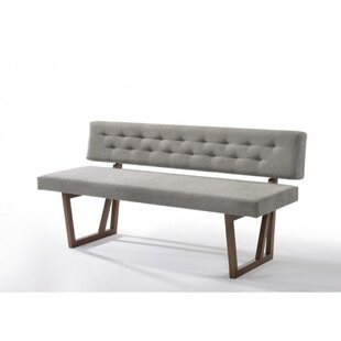 Johnny Upholstered Dining Wood Bench by 17 Stories