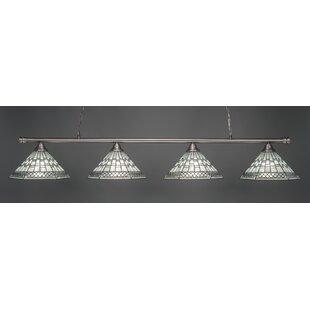 Red Barrel Studio Mendez 4-Light Tiffany Shade Billiard Light