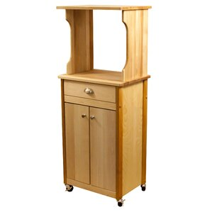 Microwave Cart with Butcher Block Top by Catskill Craftsmen, Inc.