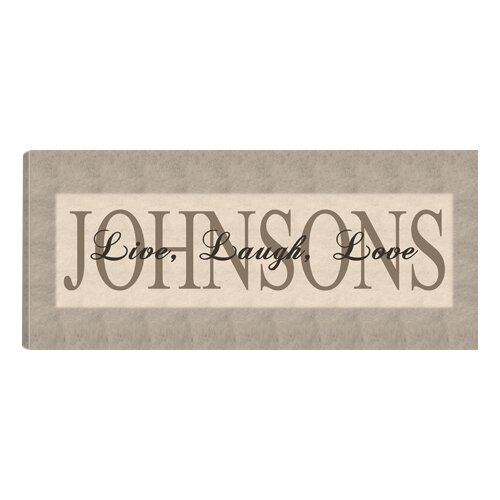 Jds Personalized Gifts Personalized Gift Live Laugh Love Textual Art On Canvas In Grey Reviews Wayfair