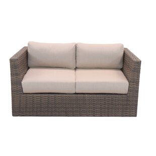 Cribbs Loveseat with Sunbrella Cushions by Highland Dunes