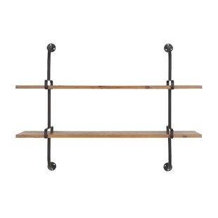 Woodland Park Industrial 2-Tiered Rectangular Wall Shelf