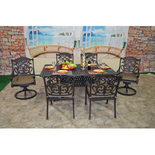 Darby Home Co Nola 7 Piece Dining Set with Cushions