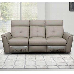 Orren Ellis Fish Leather Reclining Sofa