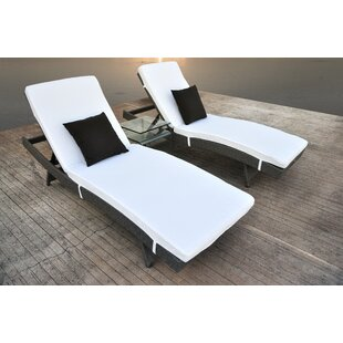 Zori 3 Piece Rattan Sectional Set with Cushions