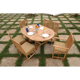 Farnam 7 Piece Teak Dining Set by Rosecliff Heights Wonderful