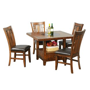 Schueller 5 Piece Extendable Dining Set