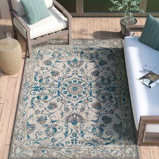 4e167987e9f Innisbrook Traditional Vintage Distressed Scatter Blue Indoor Outdoor Area  Rug