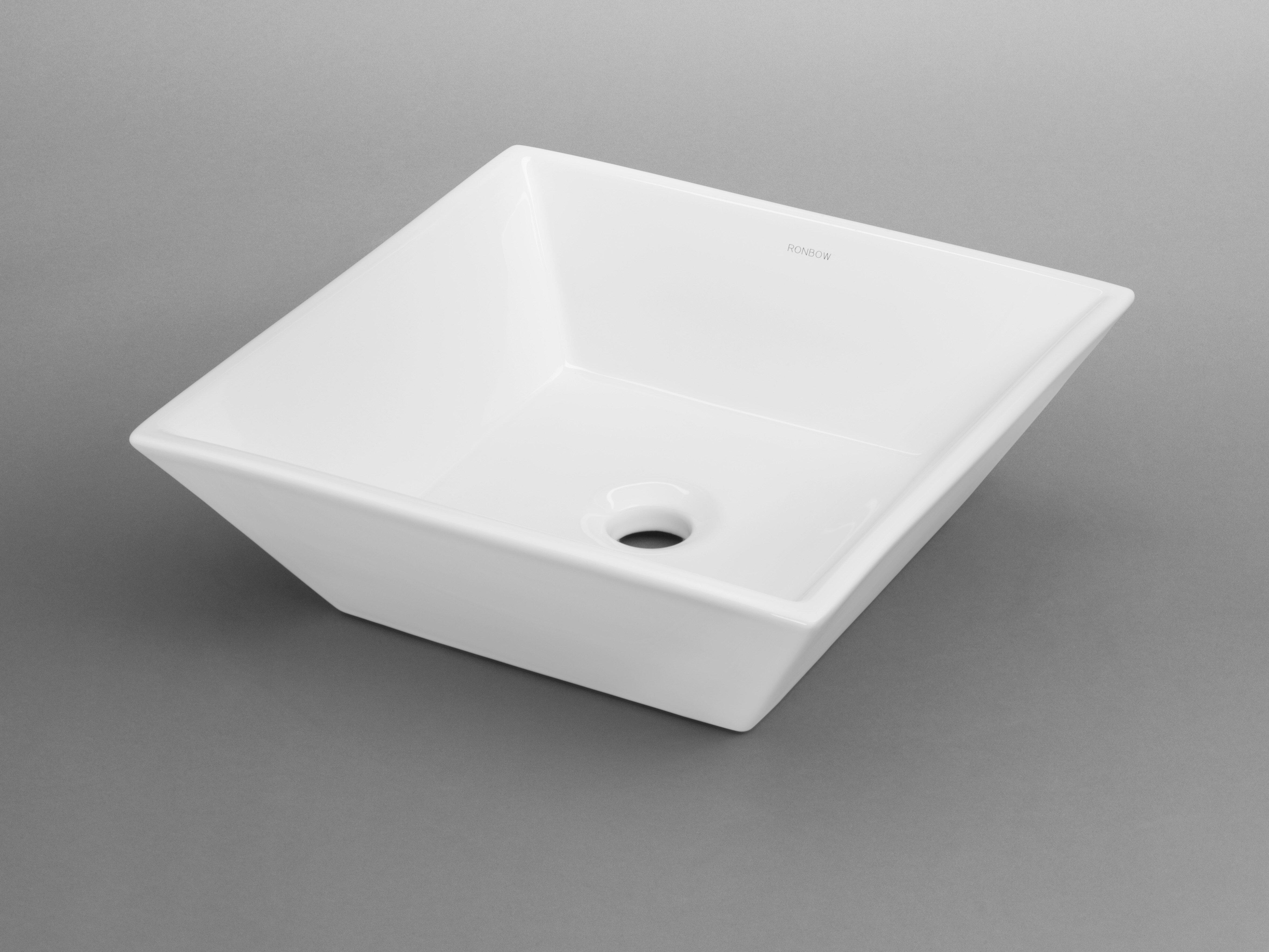 Ronbow Formation Ceramic Square Vessel Bathroom Sink Wayfair