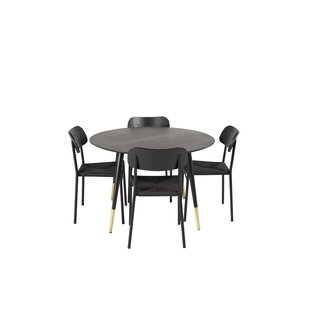 Lara Dining Set With 4 Chairs By Canora Grey