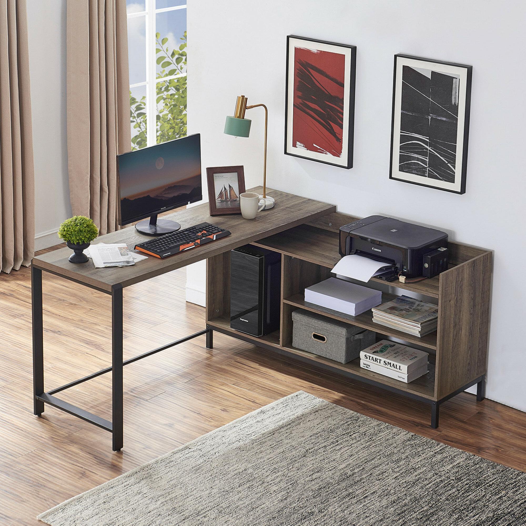17 Stories Emerystone L Shape Executive Desk Reviews Wayfair
