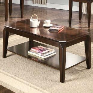 Ebern Designs Salamone Walnut 3 Piece Coffee Table Set