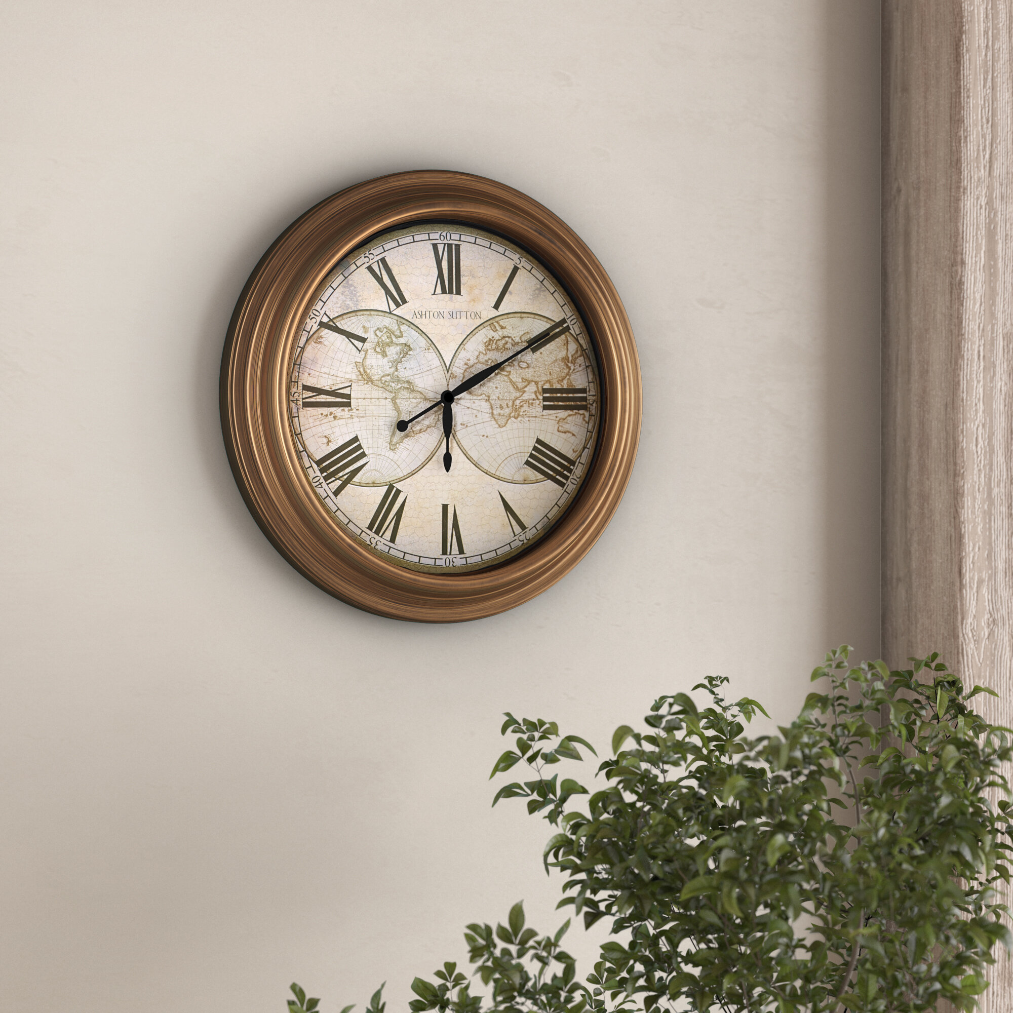 Charlton Home Truluck 12 9 Wall Clock Reviews Wayfair