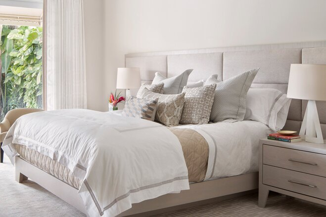 Dream bedroom furniture Contemporary Cozy Bed With White Duvet Cover And Textured Accent Pillows Wayfair Dream Bedroom that Wont Break The Bank Wayfair