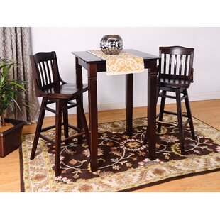 Earleton Swivel 3 Piece Pub Table Set by Darby Home Co