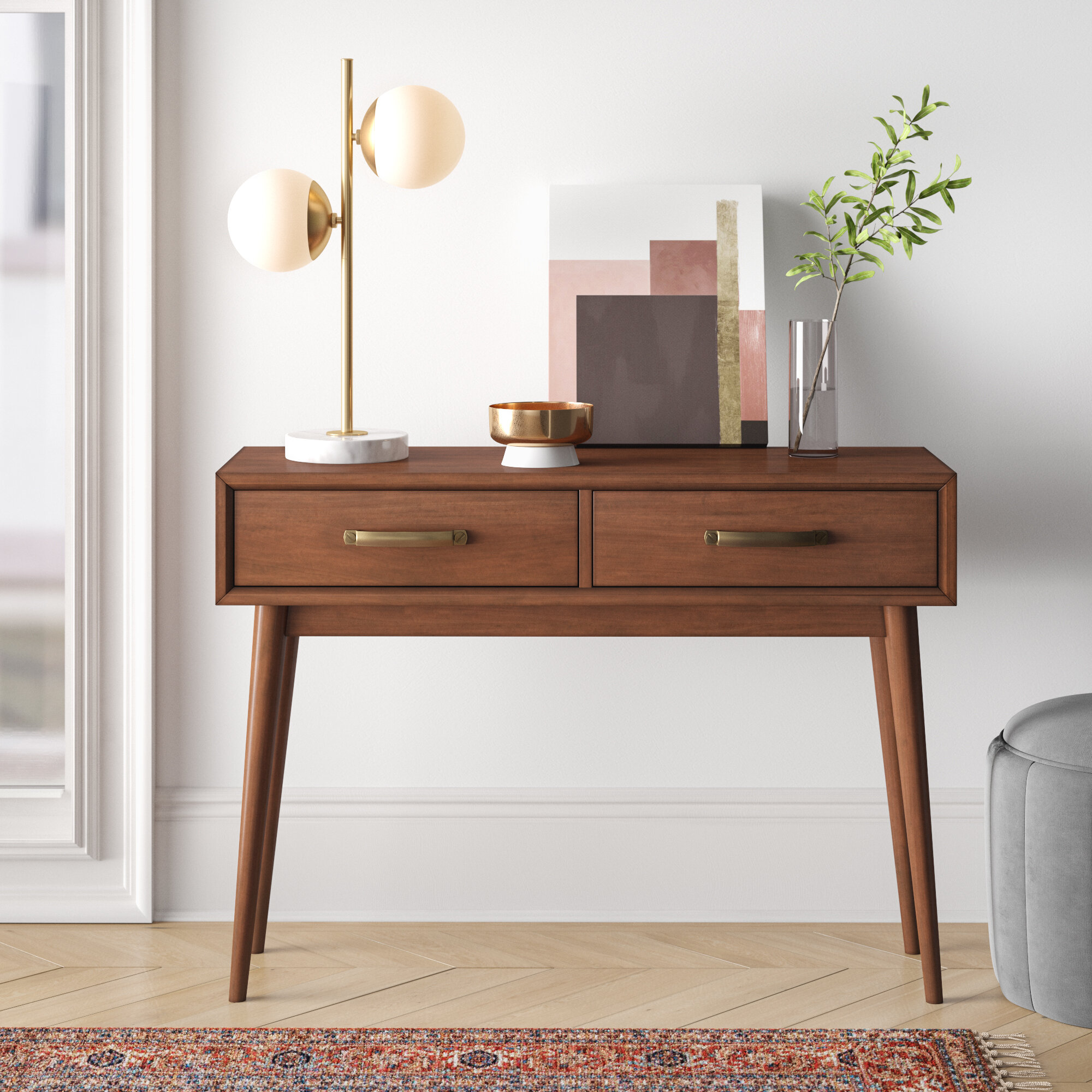 Picture of: Foundstone Morris Mid Century Modern 40 63 Console Table Reviews Wayfair Ca