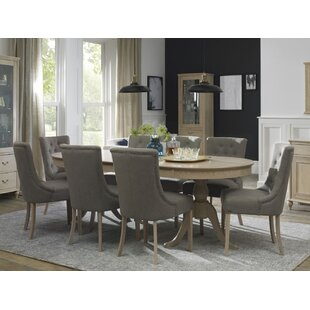 Cecile 9 Piece Extendable Solid Wood Dining Set Canora Grey