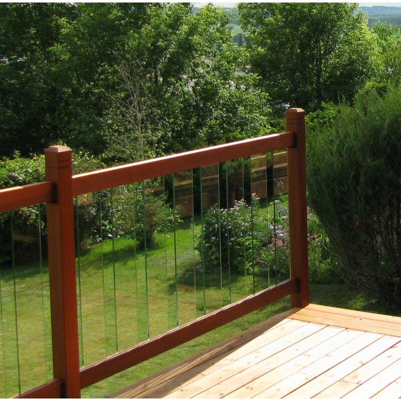 Vista Railing 3.5 ft. x 6 ft. Clearview Cedar Straight ...