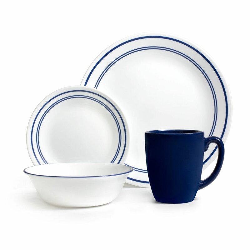 Livingware Classic Cafe 16 Piece Dinnerware Set Service for 4  sc 1 st  Wayfair & Corelle Livingware Classic Cafe 16 Piece Dinnerware Set Service for ...