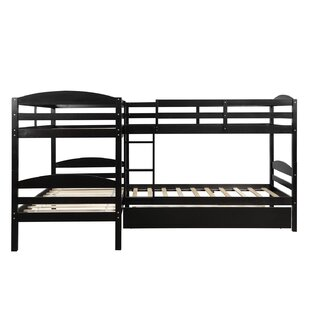 Twin LShaped Bunk Bed with Trundle