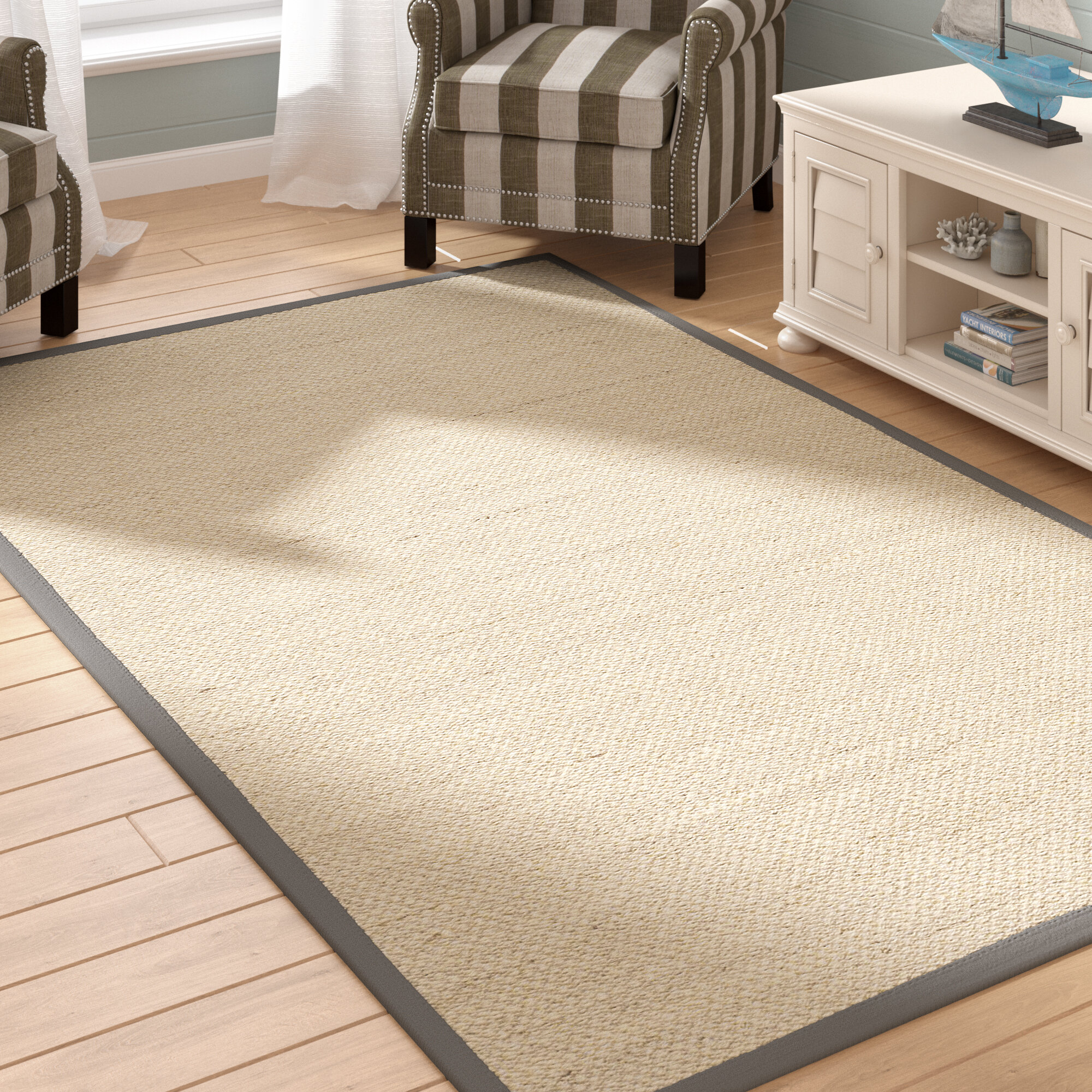 Andover Mills Jeremy Sisal Marble Dark Gray Area Rug Reviews Wayfair