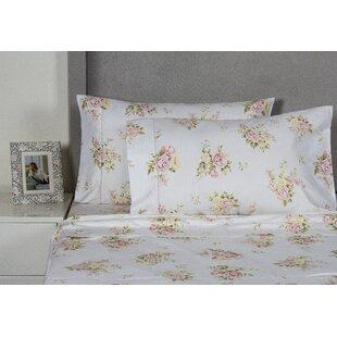 Rose Bouquet 400 Thread Count Cotton Sheet Set