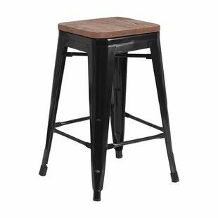 Mamie 24 Bar Stool by Williston Forge