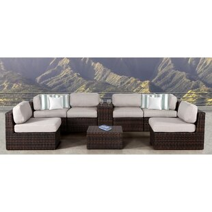 Rosecliff Heights Sabin 8 Piece Sectional Set with Cushions
