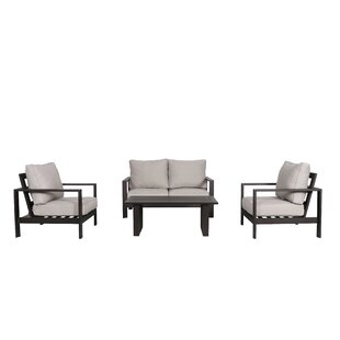 Foundry Select Buswell 4 Piece Sofa Set with Cushions