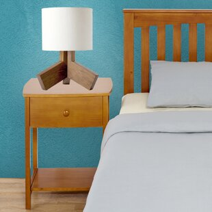Low priced Solid Wood Rake Style Nightstand by Mantua Mfg. Co.