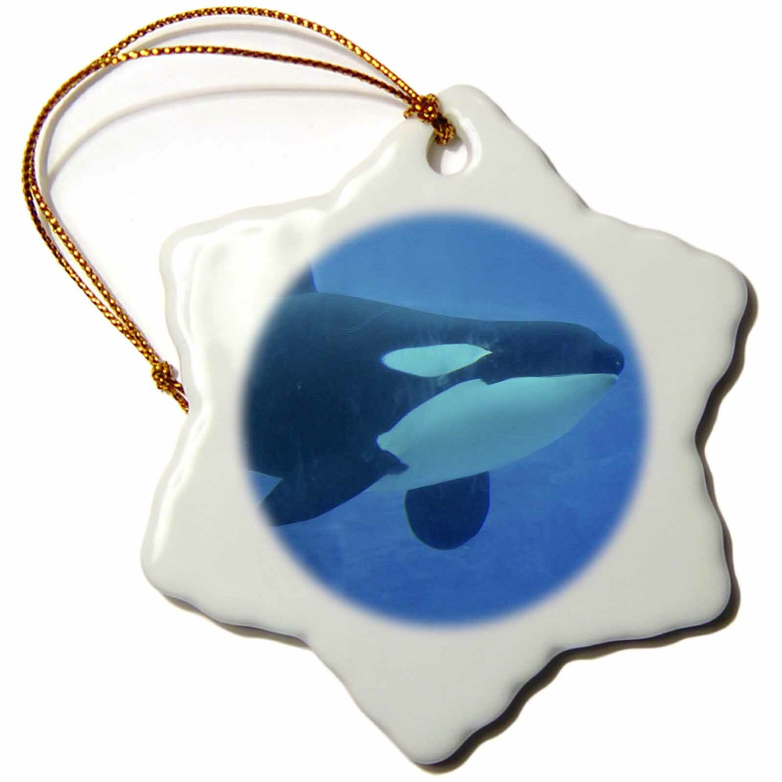 The Holiday Aisle Orca Killer Whale Underwater Snowflake Holiday Shaped Ornament Wayfair
