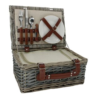 2 Person Chipwood Picnic Basket By Union Rustic