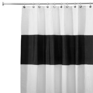 gray and black shower curtain. Zeno Shower Curtain Modern White Curtains  AllModern