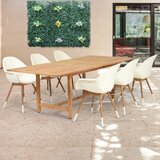 Cossette 7 Piece Teak Dining Set