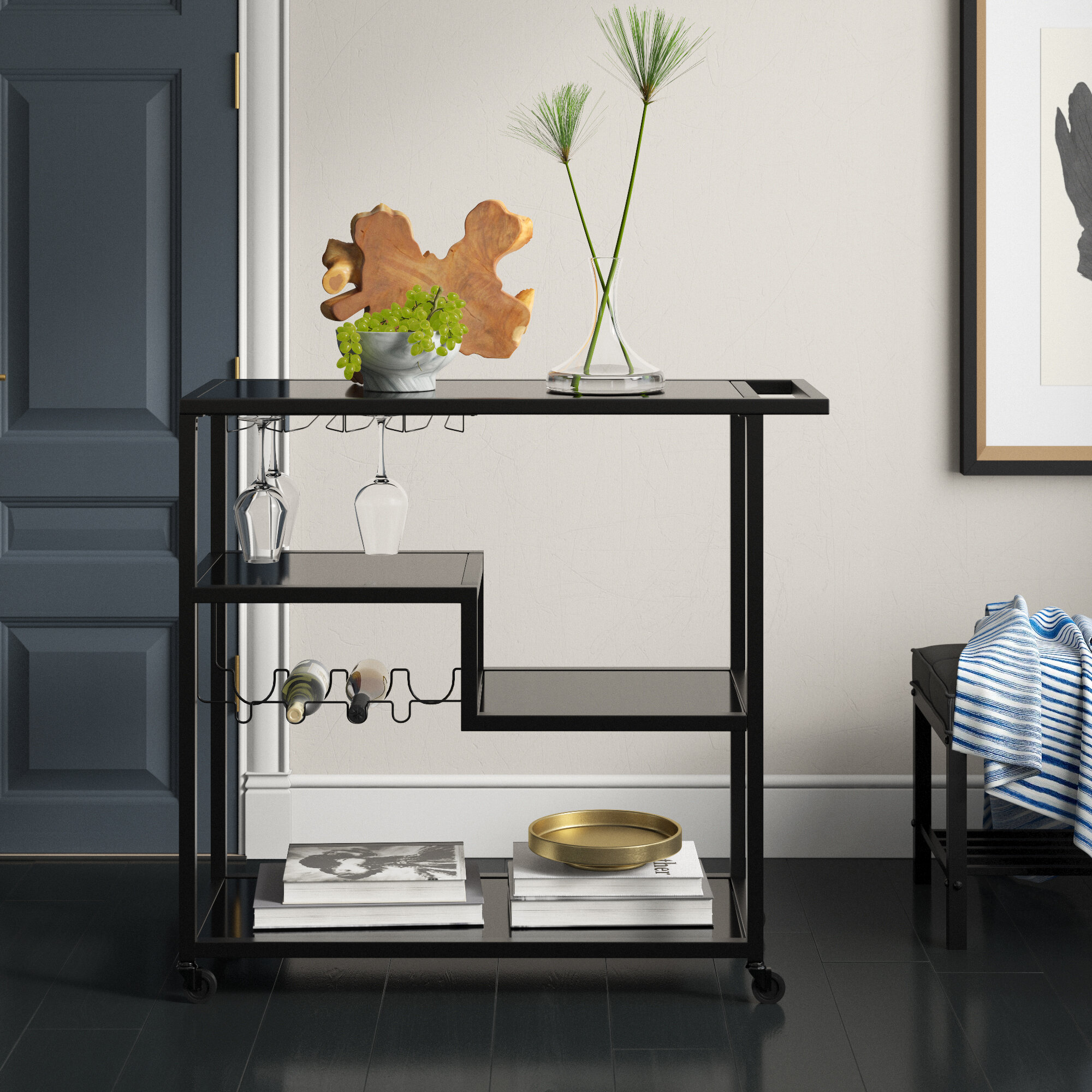 Corner Bar Cart Wayfair
