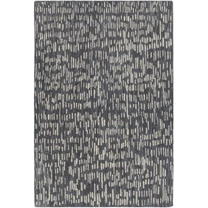 Kirtley Hand-Woven Black/Gray Area Rug