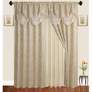 Loyd Nature Room Darkening Thermal Rod Pocket Curtain Panels (Set of 2) by Astoria Grand