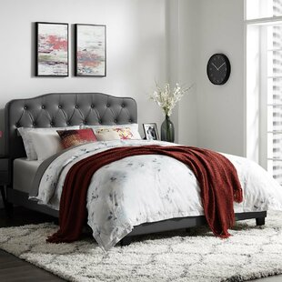 Crum Queen Upholstered Panel Bed by Alcott Hill
