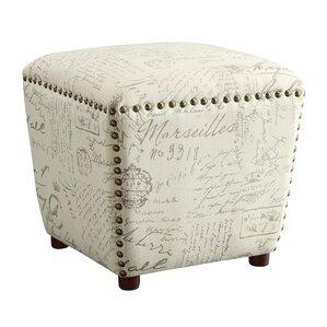 hadley upholstered ottoman - Upholstered Ottoman