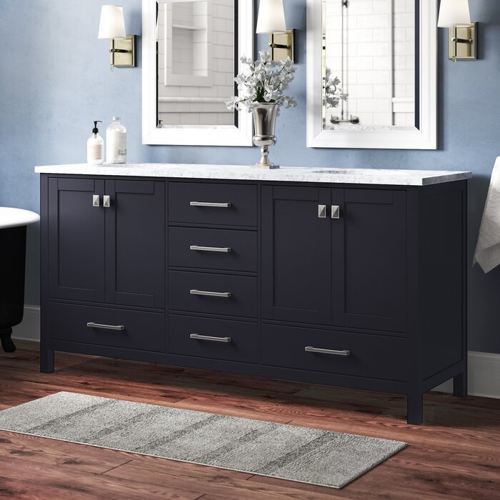 Bowlin 72 Double Sink Bathroom Vanity