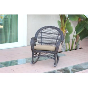 Wicker Rocker Chair with Cushions (Set of 4) by Jeco Inc.