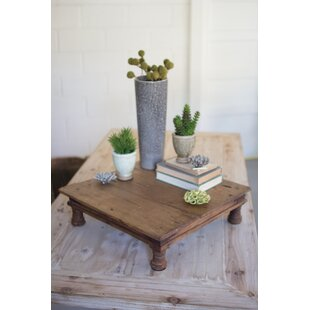 Order Jacobs Repurposed Antique Wooden Riser End Table by Gracie Oaks