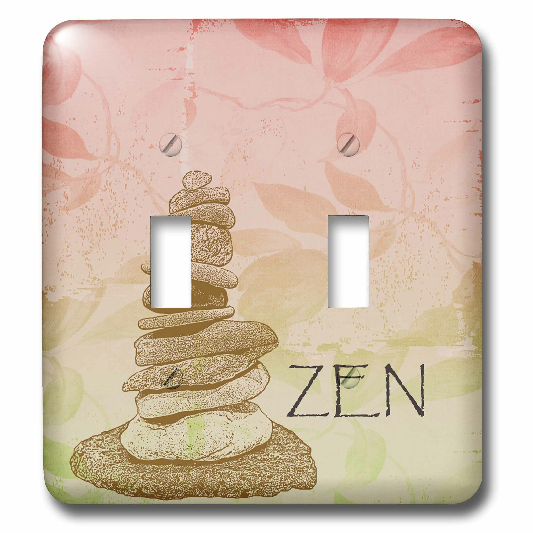 3drose Zen Rocks Floral 2 Gang Toggle Light Switch Wall Plate Wayfair