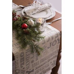 Stella Christmas Collage Table Runner