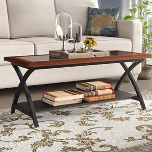 Winston Porter Jeannine Coffee Table with Magazine Rack