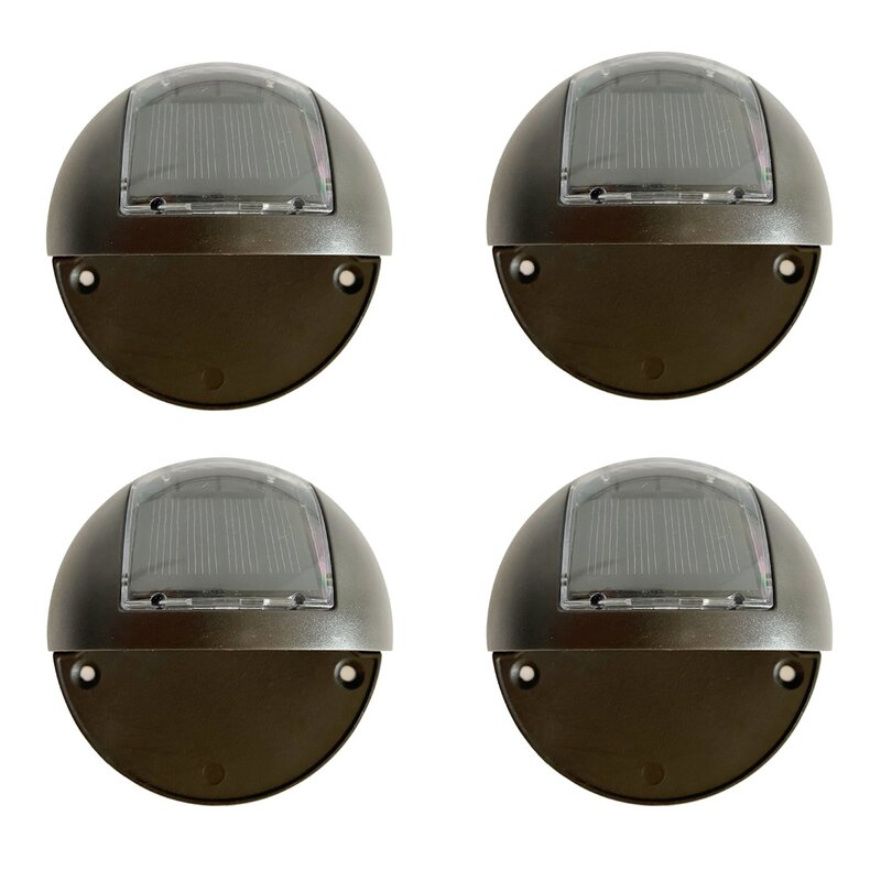 Deckimpressions Black Solar Powered Integrated Led Deck Light Pack Reviews Wayfair