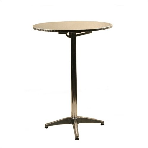 "30"" Round Top Aluminum Table"