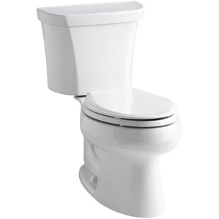 Kohler Wellworth Two-Piece Elongated Dual-Flush Toilet with Right-Hand Tri..