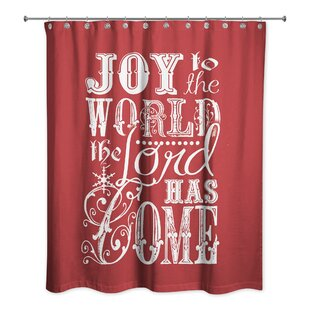 Retha Joy to the World Single Shower Curtain